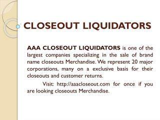 Wholesalers Liquidators|Closeout Liquidators|Overstock Buyers