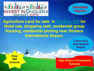 Dholera SIR Raw land For Sale