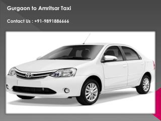 Hire Taxi Gurgaon to Amritsar