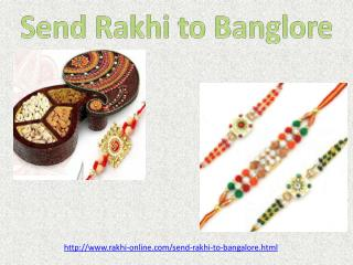 send amazing rakhi to your brother in Banglore