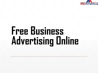 Free Business Advertising Online