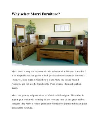 Why Select Marri Furniture?