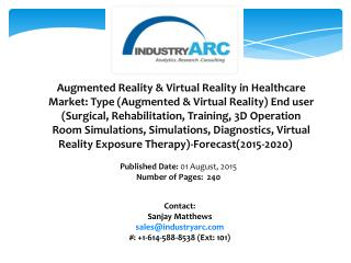 Augmented Reality & Virtual Reality in Healthcare Market Analysis during 2015-2020