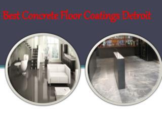 Best Concrete Floor Coatings Detroit