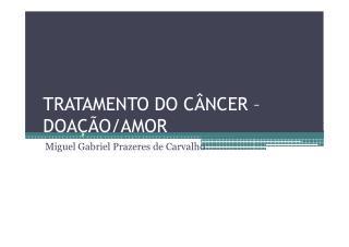 Doação Câncer