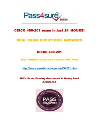 Pass4sure 400-201 Dumps