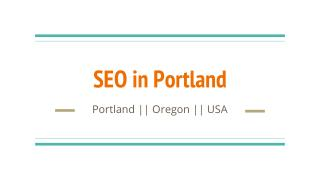 SEO in Portland For Small Business