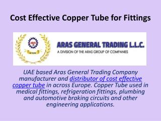 Cost Effective Copper Tube for Fittings