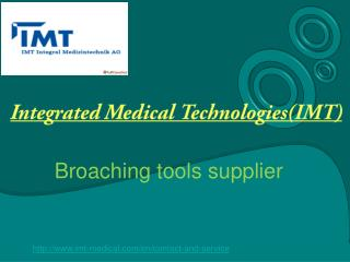 Broaching tools at IMT