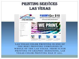 Las Vegas Color Printing Company
