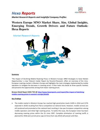 Western Europe MNO Market Analysis, Growth Drivers, Costs and Price: Hexa Reports