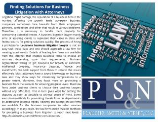Finding Solutions for Business Litigation with Attorneys