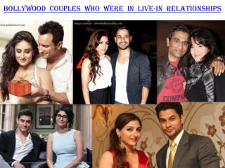 Bollywood couples who were in Live-In relationships