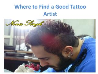 Where to Find a Good Tattoo Artist