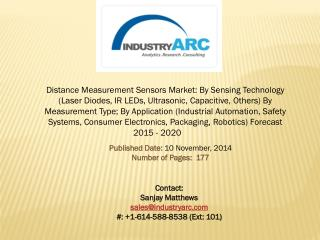 Distance Measurement Sensors Market: heavily invested by North America for industrial and defense applications.