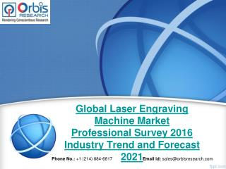 Global Laser Engraving Machine Industry Professional Survey 2016 Research Report