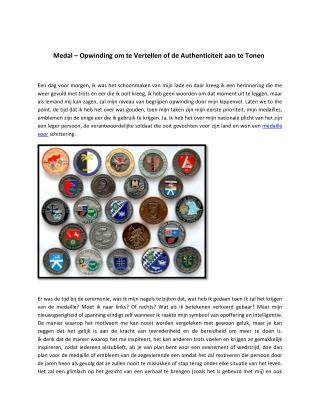 Medal � Opwinding om te Vertellen of de Authenticiteit aan te Tonen