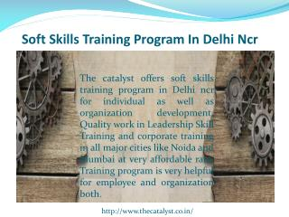 Soft Skills Training Program in Delhi Ncr
