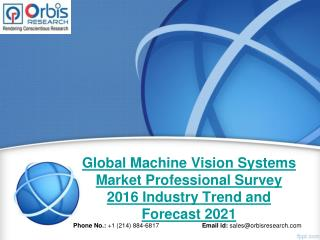 Global Machine Vision Systems Industry Professional Survey 2016 Deep Market Research Report
