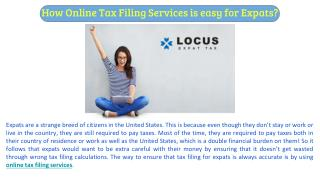 How Online Tax Filing Services is easy for Expats?