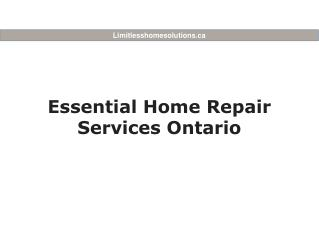 Essential Home Repair Services Ontario