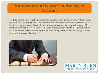 Importance of Notary in the Legal System