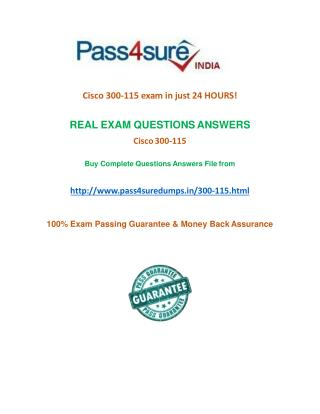 Pass4sure 300-115  Practice Test