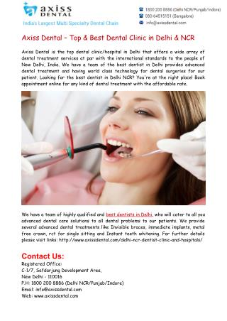 Top & Best Dentist in Delhi NCR
