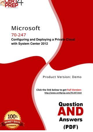 Cert4Prep 70-247 Certification Test PDF Questions