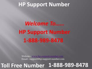 Find Instant HP Support at 1-888-989-8478