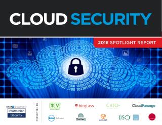 2016 Cloud Security Spotlight Report