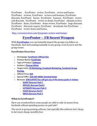 FyrePoster Review-$9700 Bonus & 80% Discount