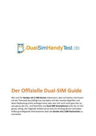 Dual SIM Guide