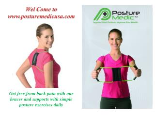 Get instant relief; buy posture brace for men at Posturemedicusa.com