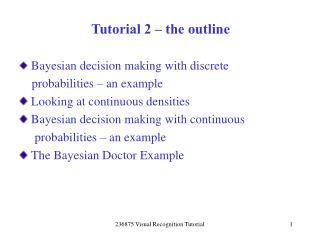 Tutorial 2   the outline