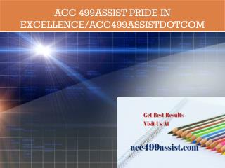 ACC 499ASSIST Pride In Excellence/acc499assistdotcom