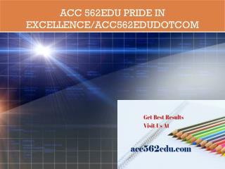 ACC 562EDU Pride In Excellence/acc562edudotcom