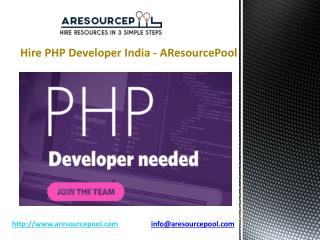 Hire PHP Developer India - AResourcePool