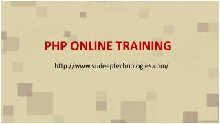 php online training classes in hyderabad|india