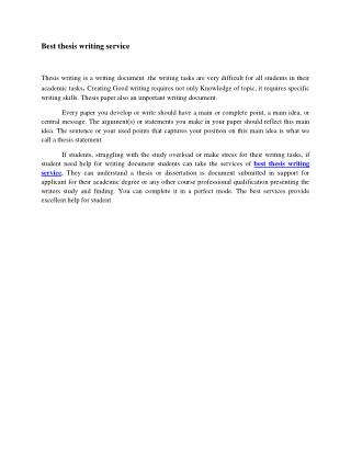 Custom thesis writing online