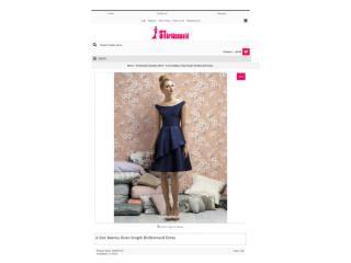 A-line Bateau Knee-length Bridesmaid Dress