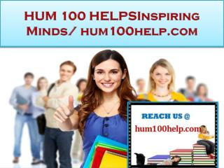 HUM 100 HELP Real Success/hum100help.com