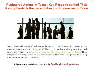 Registered Agents in Texas: Key Reasons behind Their Rising Needs & Responsibilities for Businesses in Texas