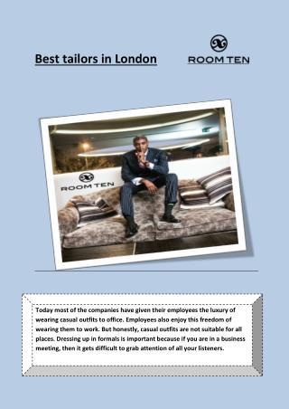 Best tailors in London
