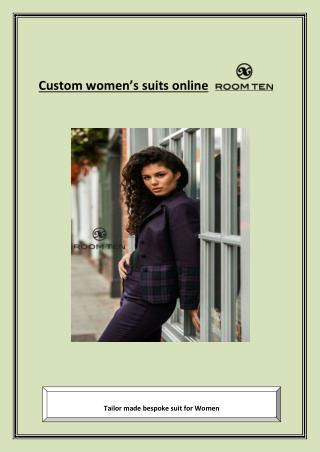 Custom women's suits online