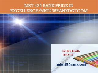 MKT 435 RANK Pride In Excellence/mkt435rankdotcom