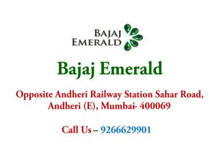 2, 3 BHK Apartments in Bajaj Emerald Mumbai – Investors Clinic