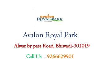 2,3BHK Low Price Flats in Avalon Royal Park Bhiwadi – Investors Clinic