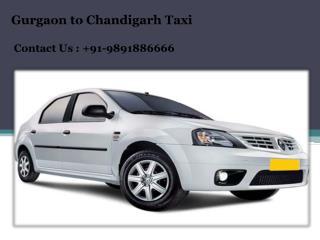 Gurgaon to Chandigarh Taxi