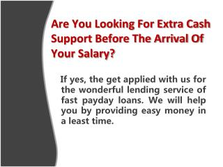 Fast Payday Loans- Smart Borrowing Option For The Fixed Earner
